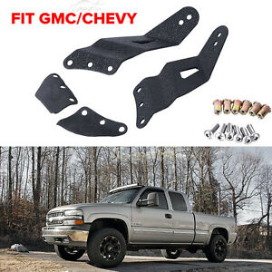 52inch Curved Led Light Bar Mounting Brackets For 1999 1906 Gmc Chevy Silverado