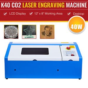 12 x8 40w Co2 Laser Engraver W water break Protection New Control Board Usb
