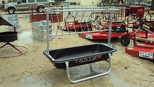 5 Poly Galvanized Goat Bunk Feeder W Hay Rack new