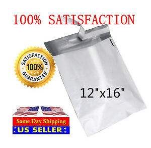 500 12x16 Poly Mailers Self Sealing Shipping Envelopes Waterproof Mail Bags Pm6