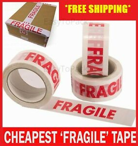 Fragile Printed Strong Packing Parcel Tape Box Sealing 48mm 2 x 66m Multilisting
