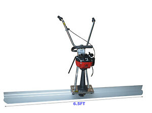 1 2hp Concrete Screed 4 Cycle Engine 6 5ft Board Cement Vibrating Power Screed
