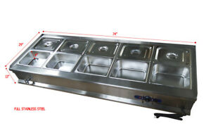 10 pan Bain marie Buffet Food Warmer Steam Table Ten 1 2pans Lids Included