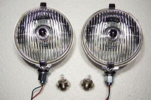 576sft Lucas Driving Lights With Halogen Bulbs New Reproductions 1 Pair