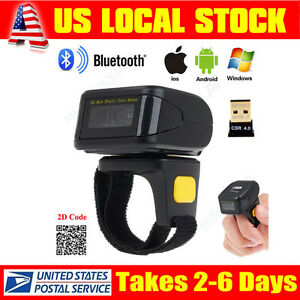 Mini Btooth Portable Ring 2d Scanner Barcode Reader For Ios Android Iphone 6