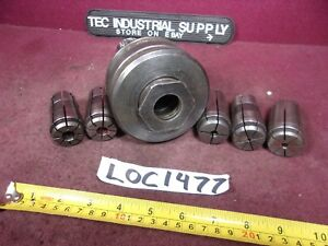 Kwik Switch 400 Tg100 Collet Chuck Tool Holder With 5 Collets Loc1477