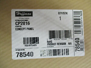Hoffman Cp2016 Concept Panel Back Panel New