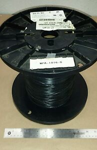 100 Ft Belden 9918 010 18awg Black Hook Up Wire 16 Strand 30awg 300v