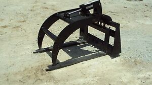 Skid Steer Quick Attach Pallet Fork Grapple new