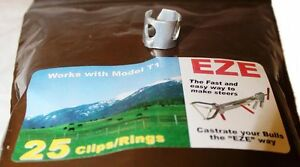 Eze Castrator Band Clip Set T 1 Calves 250lbs And Up 25 Count Of Each