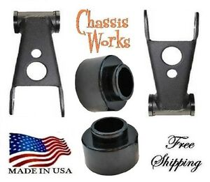 1984 2001 Jeep Cherokee Xj 2 2 Coil Spacer Lift Shackles Leveling Kit Lift Kit