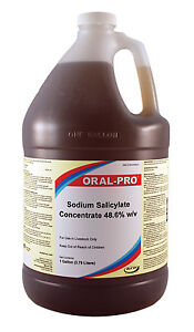 Oral Pro Sodium Salicylate Concentrate 48 6 W v Treat Cattle Poultry Gallon