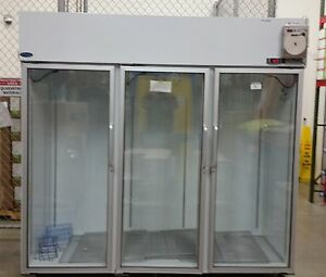 Norlake Commercial Refrigerator 3 glass Doors