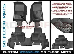 2007 2010 Jeep Wrangler Jk 4 Door 5d Custom Floor Mats Fits Sahara Rubicon Sport