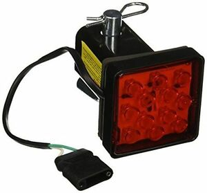 2 Trailer Hitch Receiver Cover With 12 Led Brake Leds Light Tube Cover W Pin