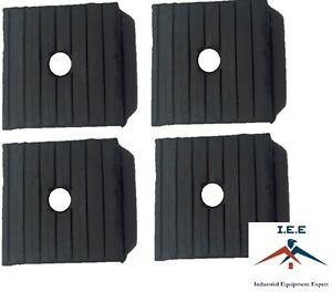 4 Pack Medium Anti Vibration Isolation Pads Air Compressor Heavy Equipment 3x3x1