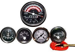 David Brown Tractor Tachometer Tempe Oil Pressure Ammeter Fuel Gauge