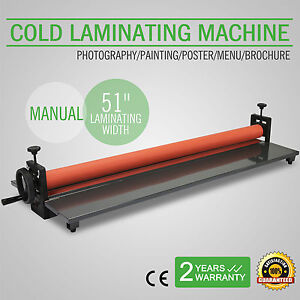 51 1300mm Cold Laminator Laminating Machine Wide Format Manual Adjustable