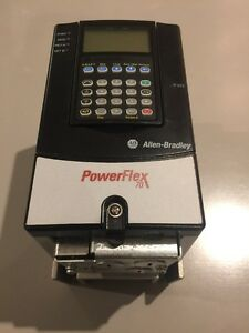 New Allen Bradley 20ab2p2a3aynnec0 0 5hp Ser A With Him Powerflex 70