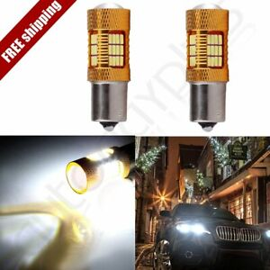 2x 1156 White Cree Led 54 Smd Projector Xenon Turn Signal Light 60w 6000lm