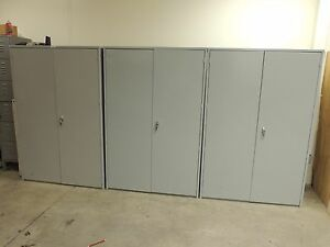 Steel Storage Cabinets 4 X 2 X 6 5 Shelf