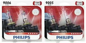 4x Philips 9005 9006 X tremevision Upgrade 100 Super More Bright Light Bulb 55w