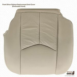 2003 04 Cadillac Escalade Driver Bottom Tan Perforated Leather Replacement Cover