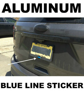 Thin Blue Line License Plate Sticker Decal 1 5 X1