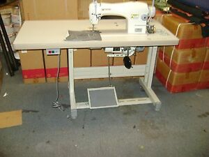 Singer 191d 30 Single Needle Industrial Sewing Machine W Table