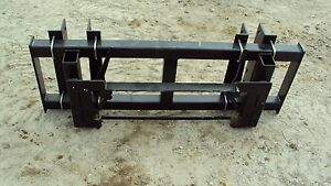 Universal Pin on Front End Loader To Skid Steer Adapter