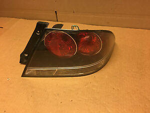 2004 2005 2006 Mitsubishi Lancer Oz Rally Black Right Passenger Tail Light Lamp