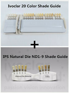 1set Ivoclar Dental Teeth Shade Guide 20 Color ips Natural Die Nd1 9 Shade Guide