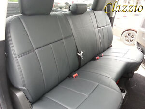 2013 Dodge Ram Clazzio Synthetic Leather Custom Seat Covers Front Rear Rows