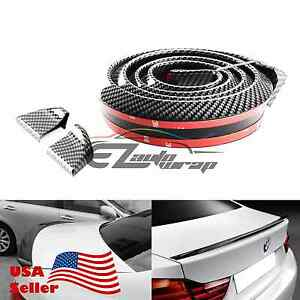 60 Universal Carbon Fiber Soft Styling Car Rear Roof Trunk Spoiler Wing Gt Lip