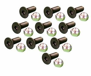 10 Caterpillar Style Skid Steer Cutting Edge Bolts W Nuts 159 2953 8t 4778