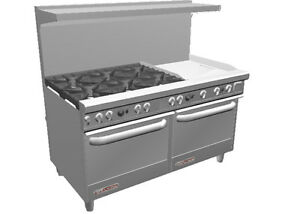 Southbend S60aa 2g Ultimate 60 Range W 24 Griddle 2 Conv Ovens