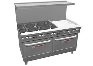 Southbend Ultimate 60 Range W 24 Thermostatic Griddle 2 Std Ovens