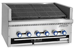 Imperial Range Iabs 72 Steakhouse 12 Burner 72 Gas Countertop Charbroiler