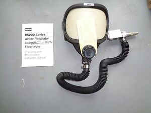 North 85200 Continuous Flow Airline Respirator Facepiece Supplied Air Mask