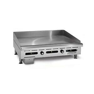 Imperial Range 36 Commercial Gas Griddle Counter Top Thermostatic Control