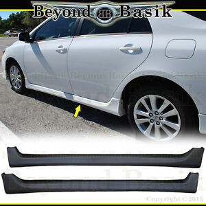For 2009 2013 Toyota Corolla Type S 2pc Side Skirts Aero Factory Style Body Kit