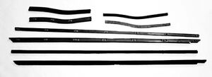 New 1967 1968 Mustang Beltline Weatherstrip Convertible 8 Pc Kit Side Window
