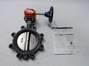Nibco Lug Style 6 Butterfly Valve Ld 3510 4 With Gear Operator