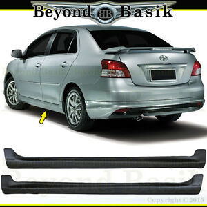 For 07 08 09 10 2011 2012 Toyota Yaris 2p Side Skirts Trd Factory Style Body Kit