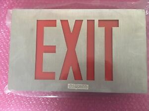 Isolite Ac Led Cst Exit Sign Lpdcnb Series Lpdcnbdrbkbac Stainless Steel