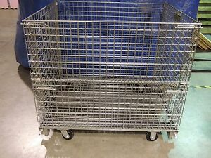 Large Mobil Wire Storage Containers Dim 40 X 48 X 43 3 4
