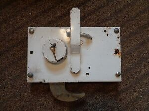 Cast Iron Truck Door Lock Trailer Toolbox Rv Handle Latch Large With 2 Keys