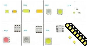 Smd Smt Led 5050 2835 5730 Multi color Emitting Diode White red blue green rgb