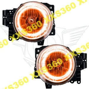 Oracle Halo 2x Headlights Toyota Fj Cruiser 07 14 Amber Led Angel Demon Eyes