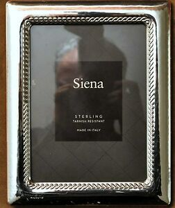 Siena Italy Sterling Silver Picture Photo Frame